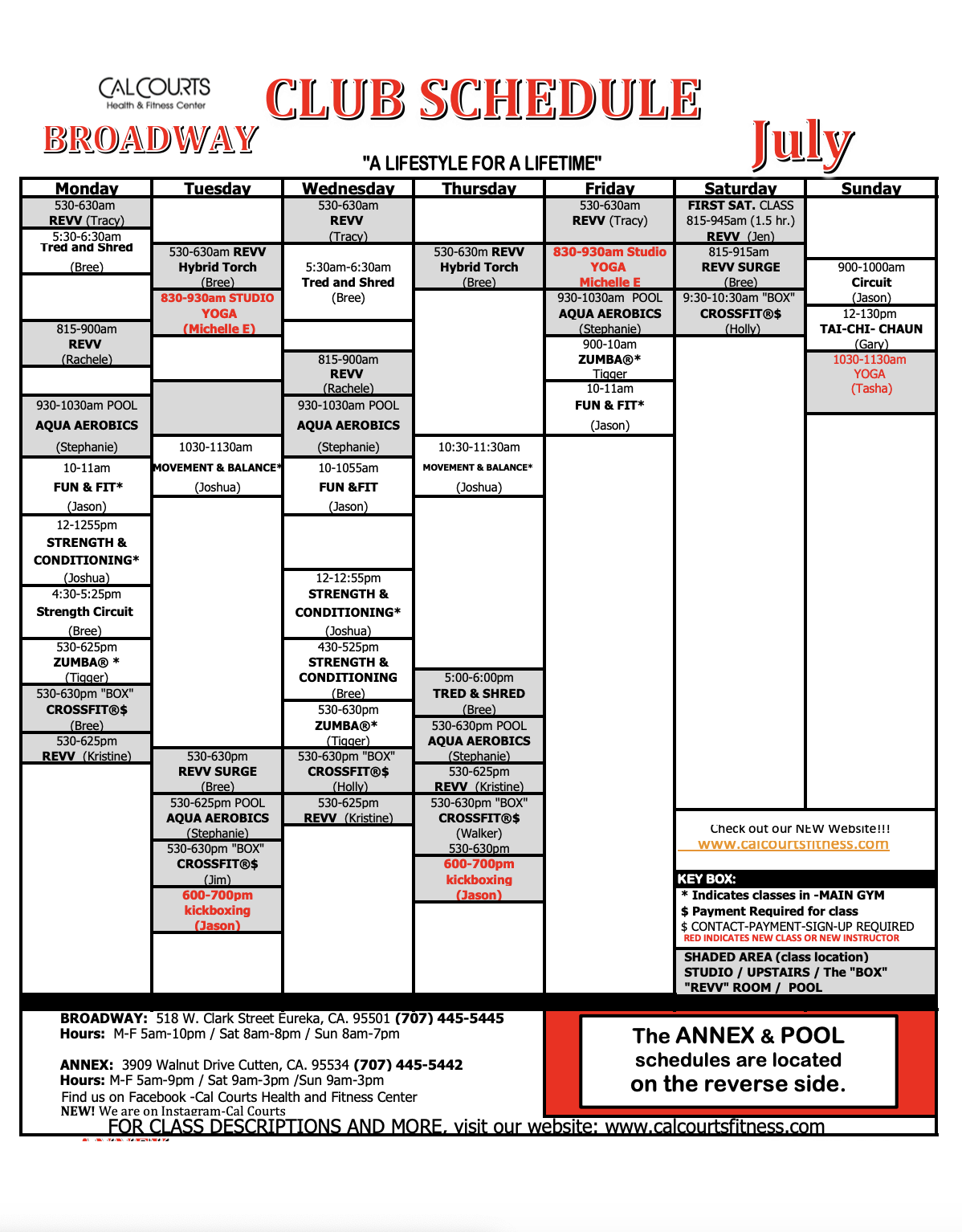 Fitness Classes - CalCourts Health & Fitness Center